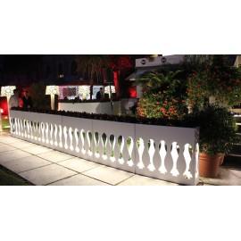 Fioriera Luminosa Balau Cm 115 H Alluminio Smaltato Bianco Opaco