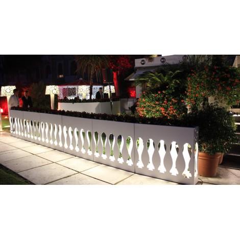Fioriera Luminosa Balau Cm 100 H Alluminio Smaltato Bianco Opaco