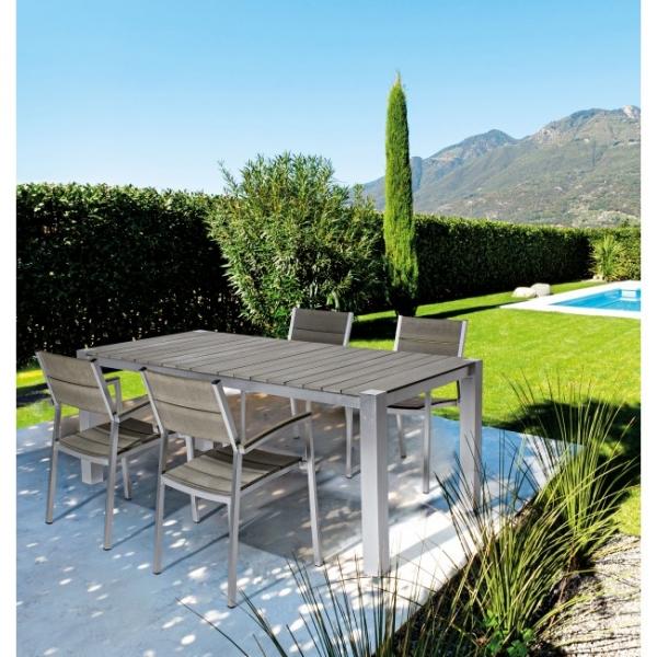 Tavolo otis 200 x 100 completo di 6 sedute otis cits shop for Tavoli da giardino offerte