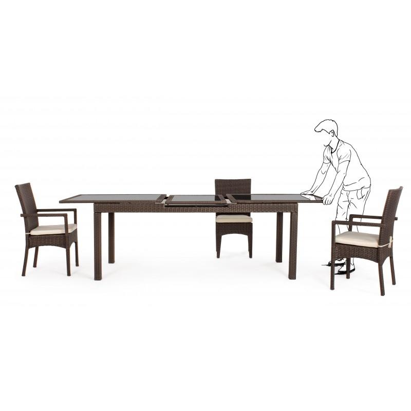 tavolo athena allungabile 200/260 cm completo di 6 sedute - cits shop - Athena Arredo Bagno