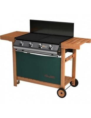 Barbecue Primavera 4 Fuochi Partynox con Carrello in Legno a gas