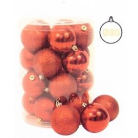 Cilindro 20 Sfere ø 80 Mm Rosso Glitter, Metallizzate, Satinate